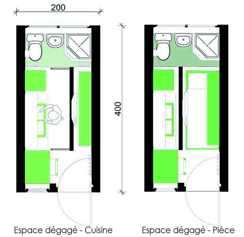 2 eco studio un studio confortable qui r pond aux for Miroir 2mx2m