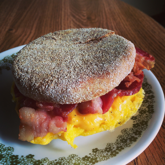 Breakfast sandwich full of protein