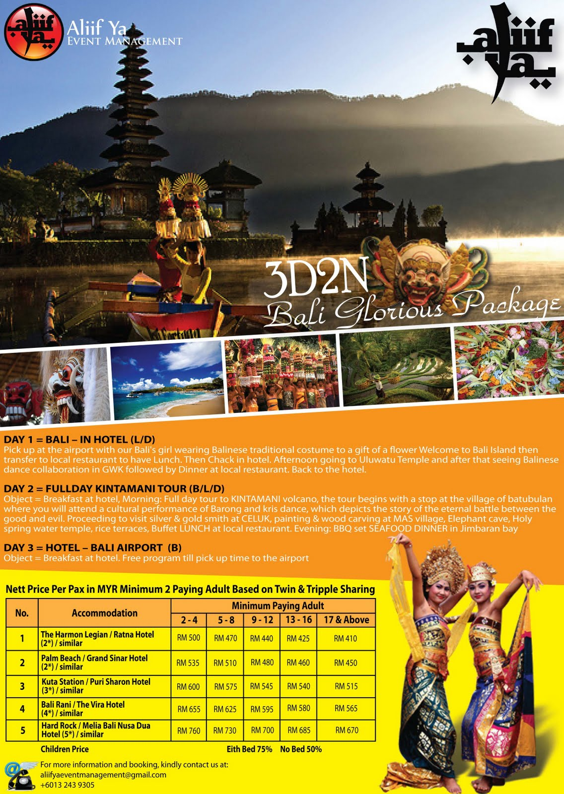 Aliif Ya Event Management Outbound Tiket Jakarta Bali Pp Plus Hotel 3d2n Kindly Click On The Poster For Larger Version