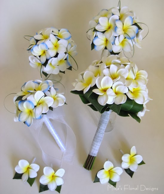 Real Touch Frangipani Wedding Flower Package 280
