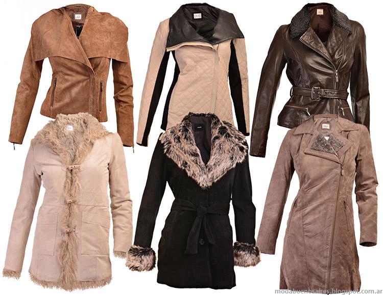 Moda abrigos, camperas de cuero y tapados invierno 2014. Prune invierno 2014.