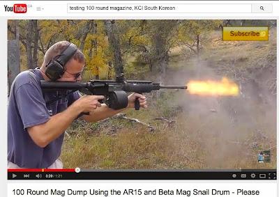 KCI 100-round dual drum magazine, Garland, Texas crime scene