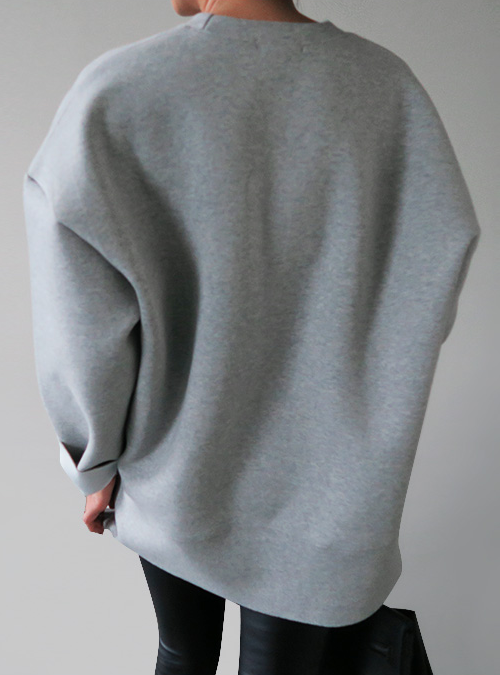 Oversized Gray Pullover