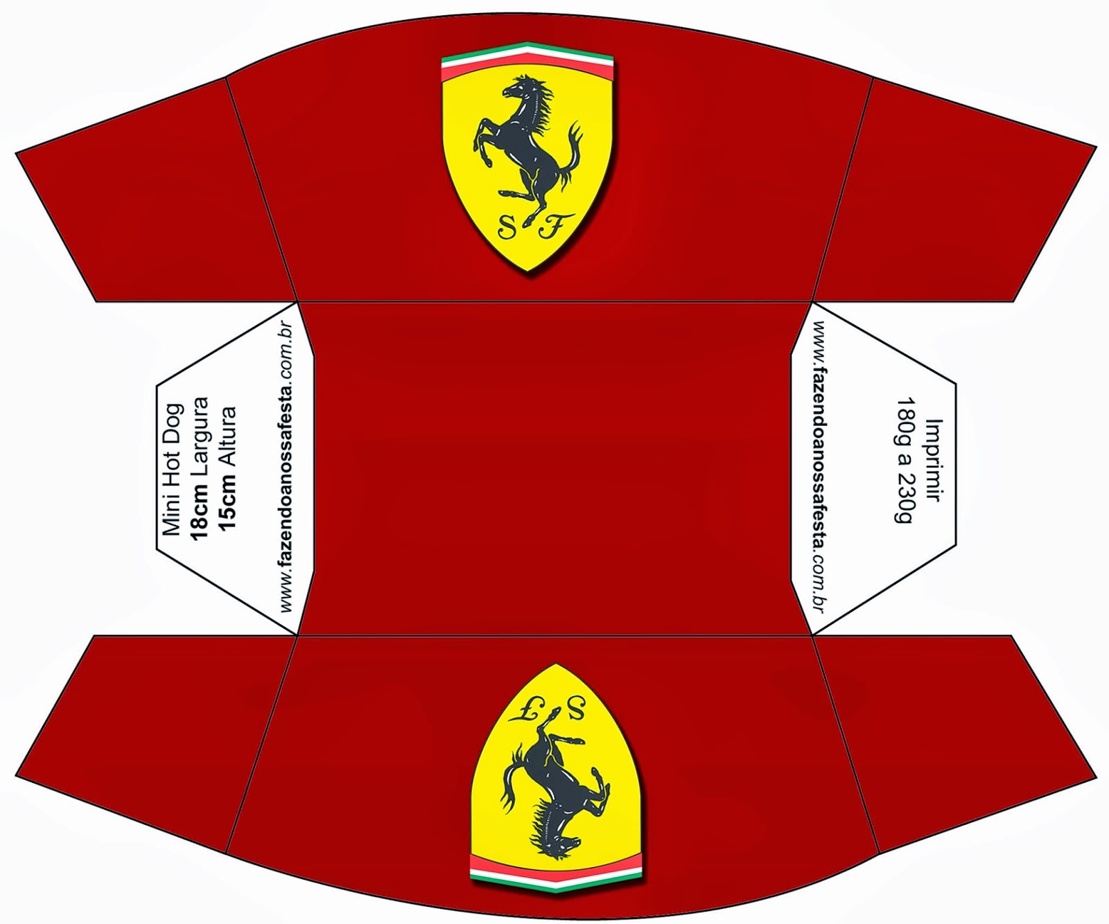 Ferrari: Free Printable Boxes. | Is it for PARTIES? Is it ...