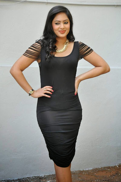 Actress Nikesha Patel Latest  Pictures in Black Short Dress 16.JPG