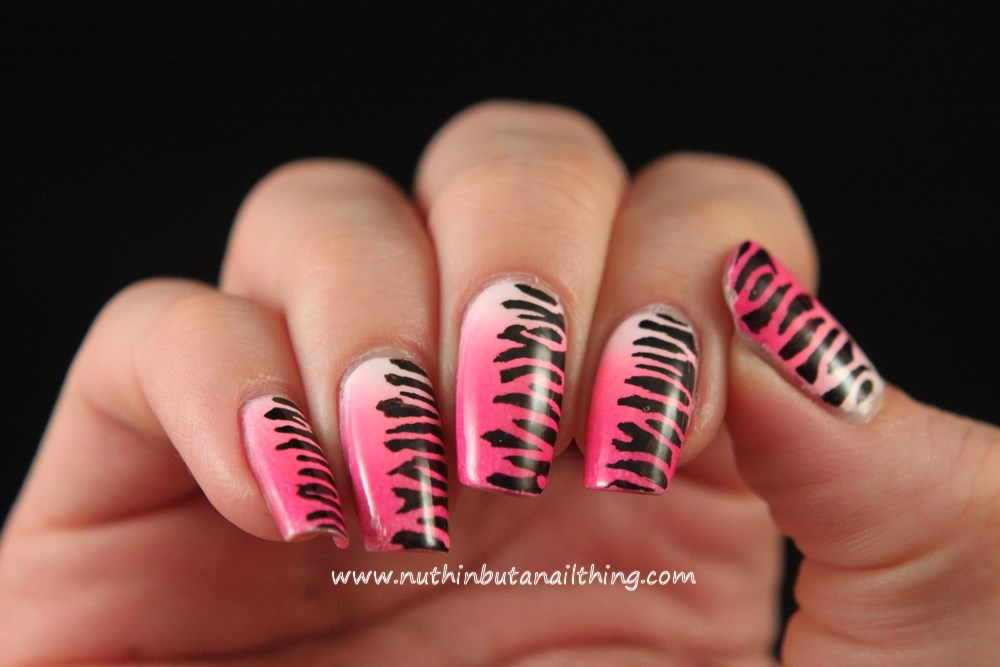 zebra print nail art barry m pens