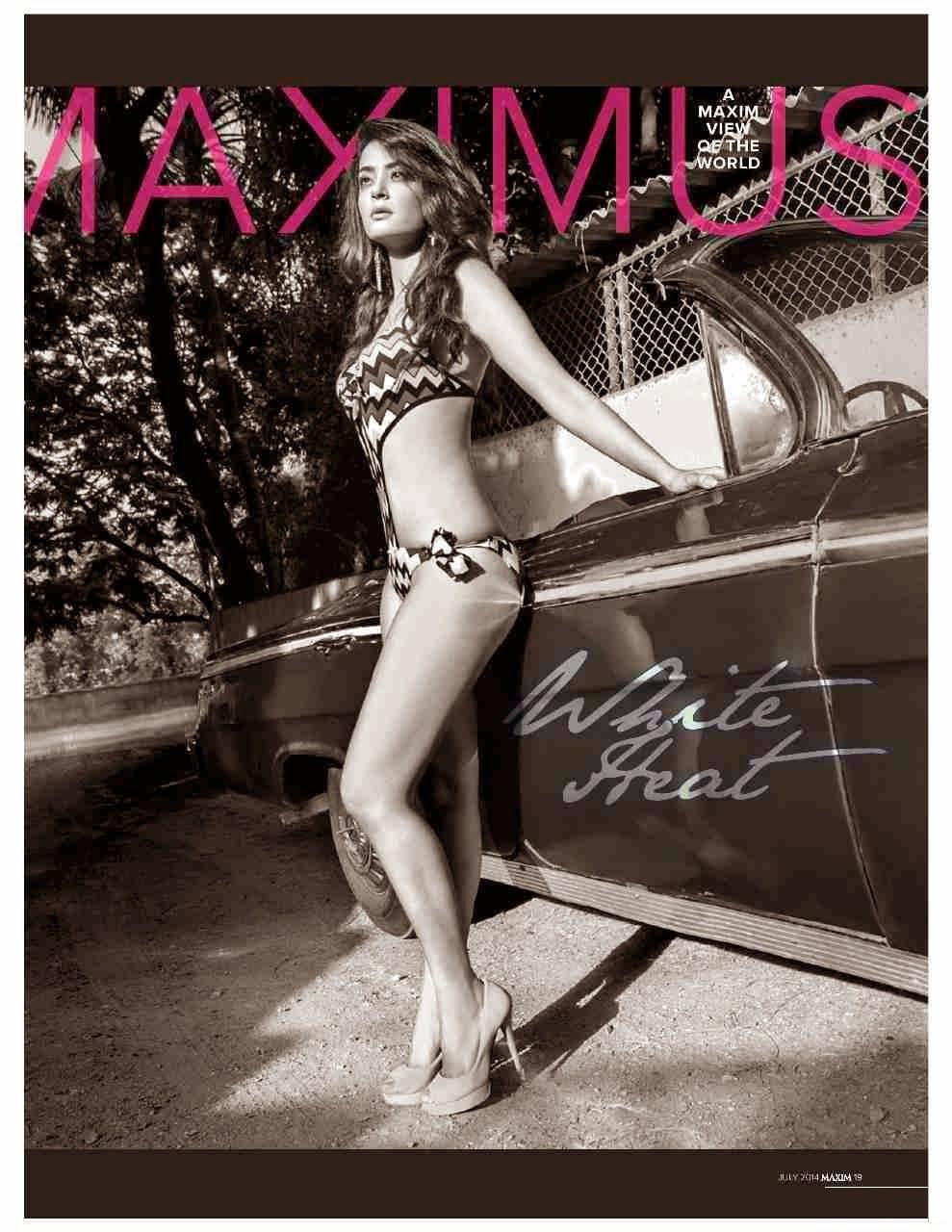 Surveen Chawla looking hot in bikini in Maxim India magazine