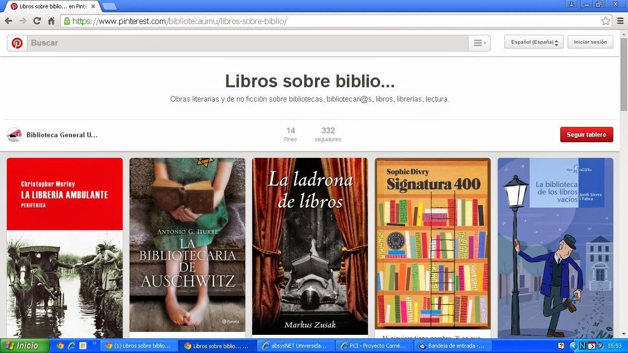 Estrenamos tablero Pinterest. Te gusta leer sobre bibliotecas, libros y librerías? Visítalo.