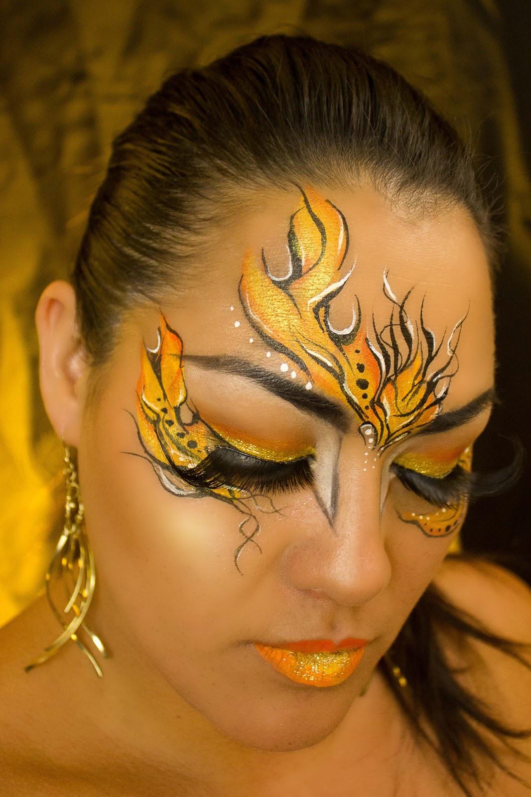 Flame Eye Makeup Hot Fire Face Paint Makeup