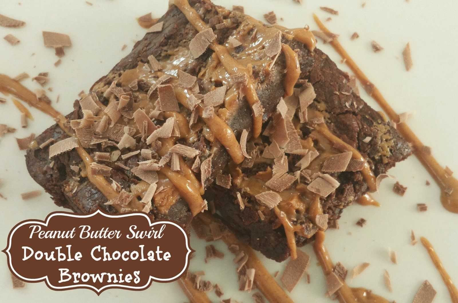 peanut butter swirl double chocolate brownies