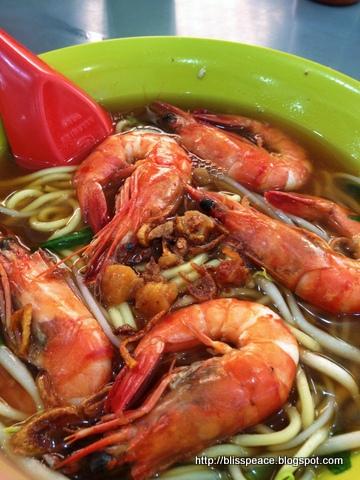 Prawn noodles...