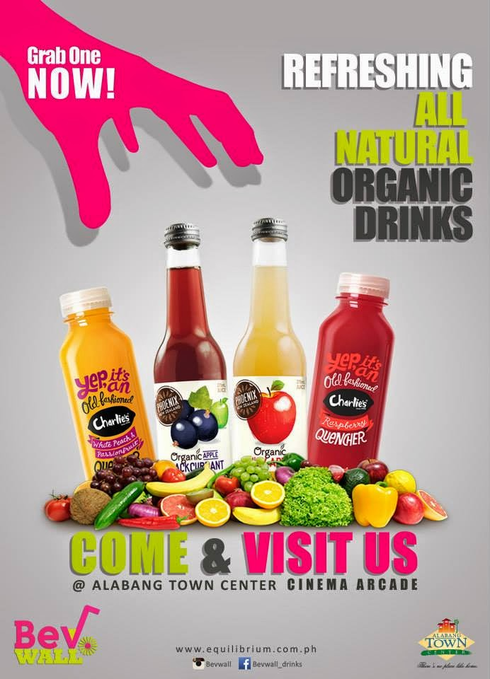 BEV WALL Organic Juices, Healthy Iced Tea & Natural Sodas