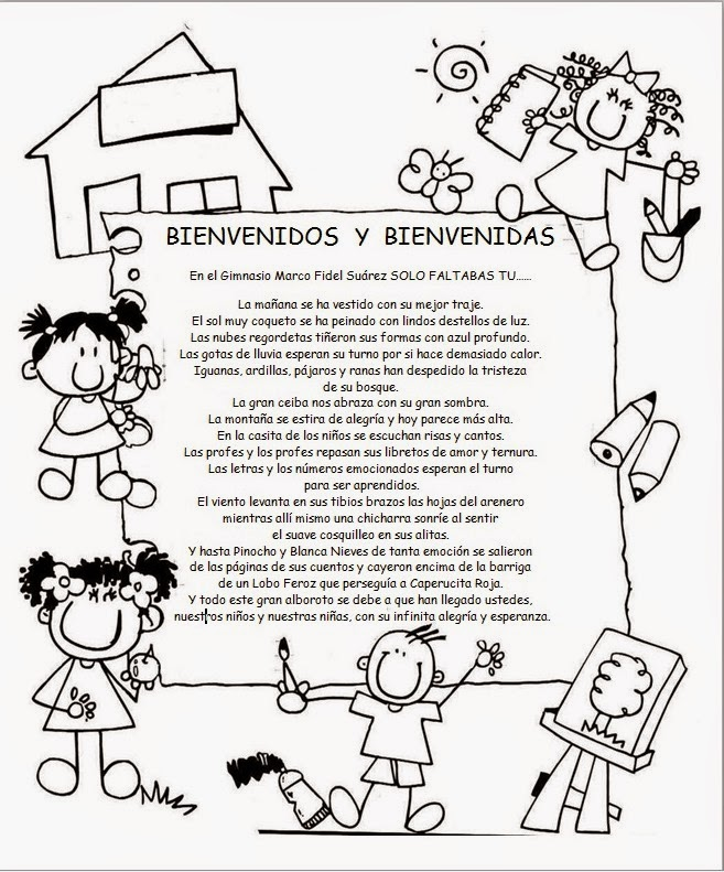palabras de bienvenida para una promocion de preescolar ...