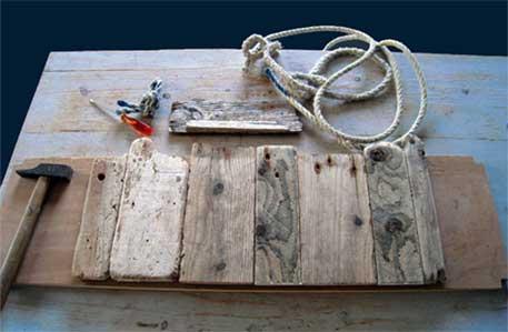 Bois flott bricolage recup recyclage deco marine le for Plateau bois flotte
