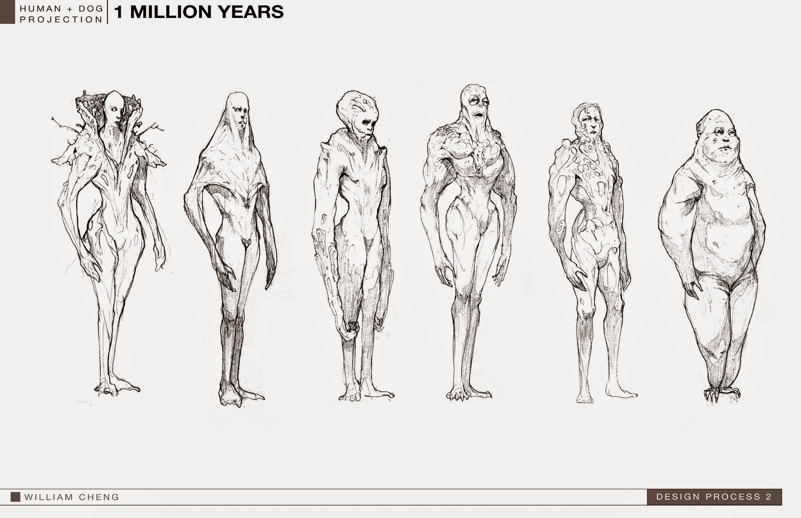 William Cheng Concept Design 1 Billion Year Human Sketches