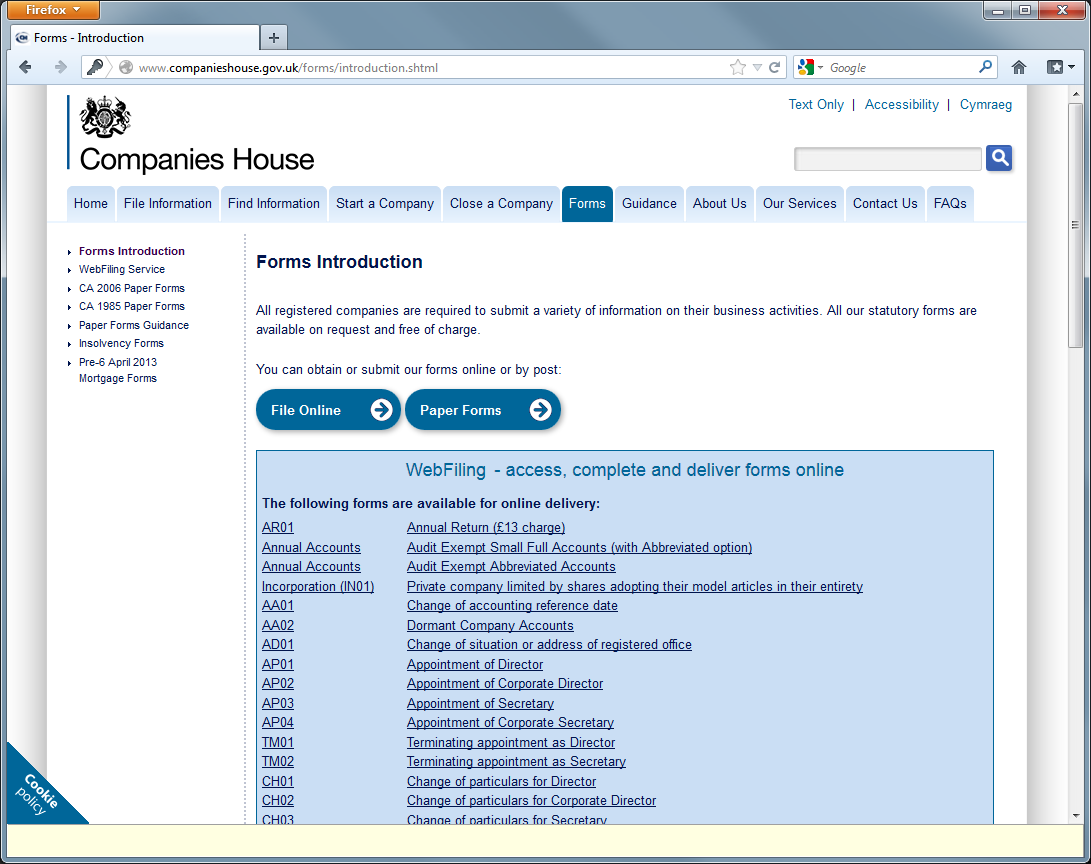Dynamoo 39 s blog companies house phish for Companies housse