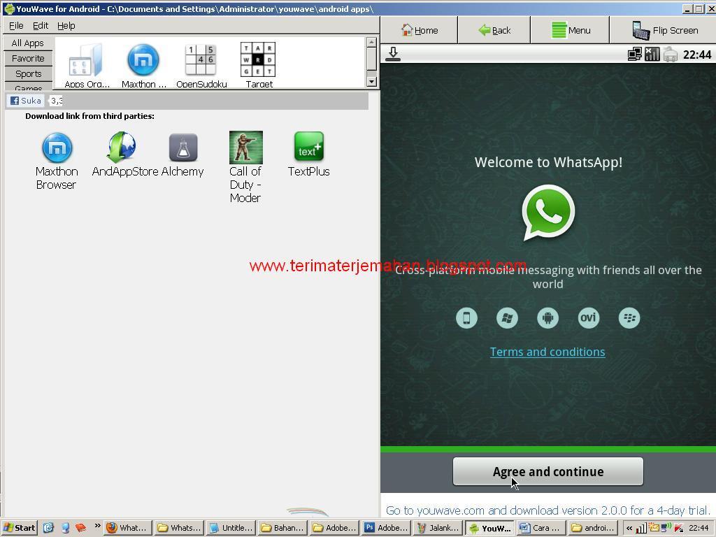 Cara Memasang Whatsapp Di Komputer Win XP 13