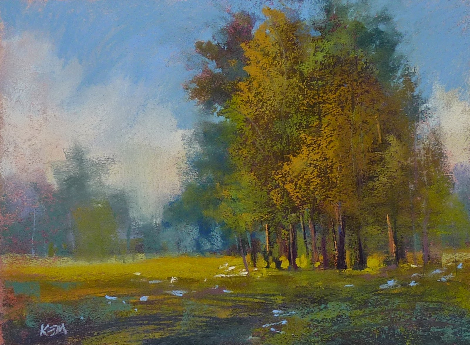 Paint Along Monday...Trees and Wildflowers