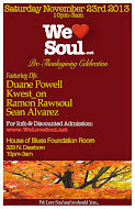 Sat 11/23: We Love Soul Pre-Thanksgiving Celebration!