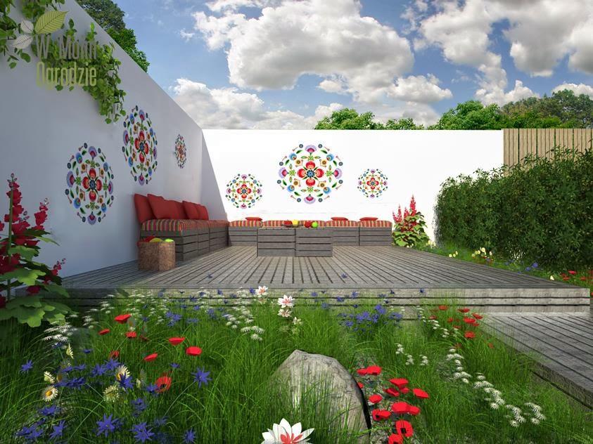 ogród w wiejskim stylu