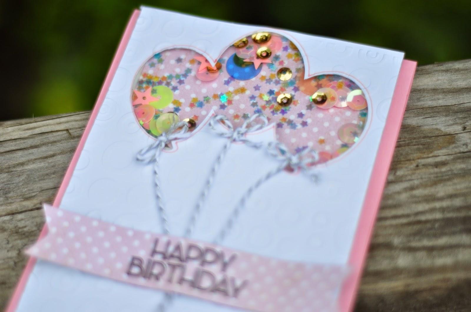 Birthday Shaker Card With Cricut Explore