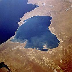 Garabogaz-Göl lagoon in Turkmenistan
