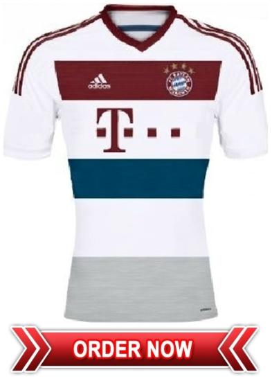 Jersey Bola Grade Ori Bayern Munich 2014-15 Away