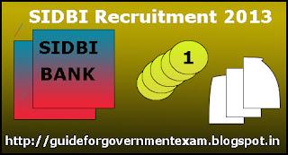 SIDBI Recruitment 2013
