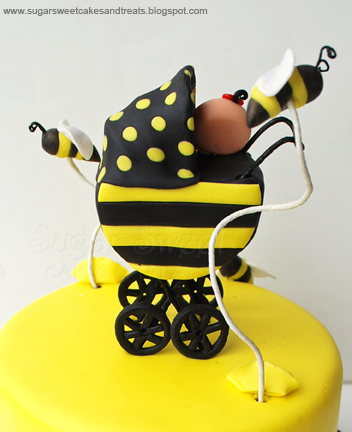 Bumble Bee Baby Shower Cake And Cupcakes