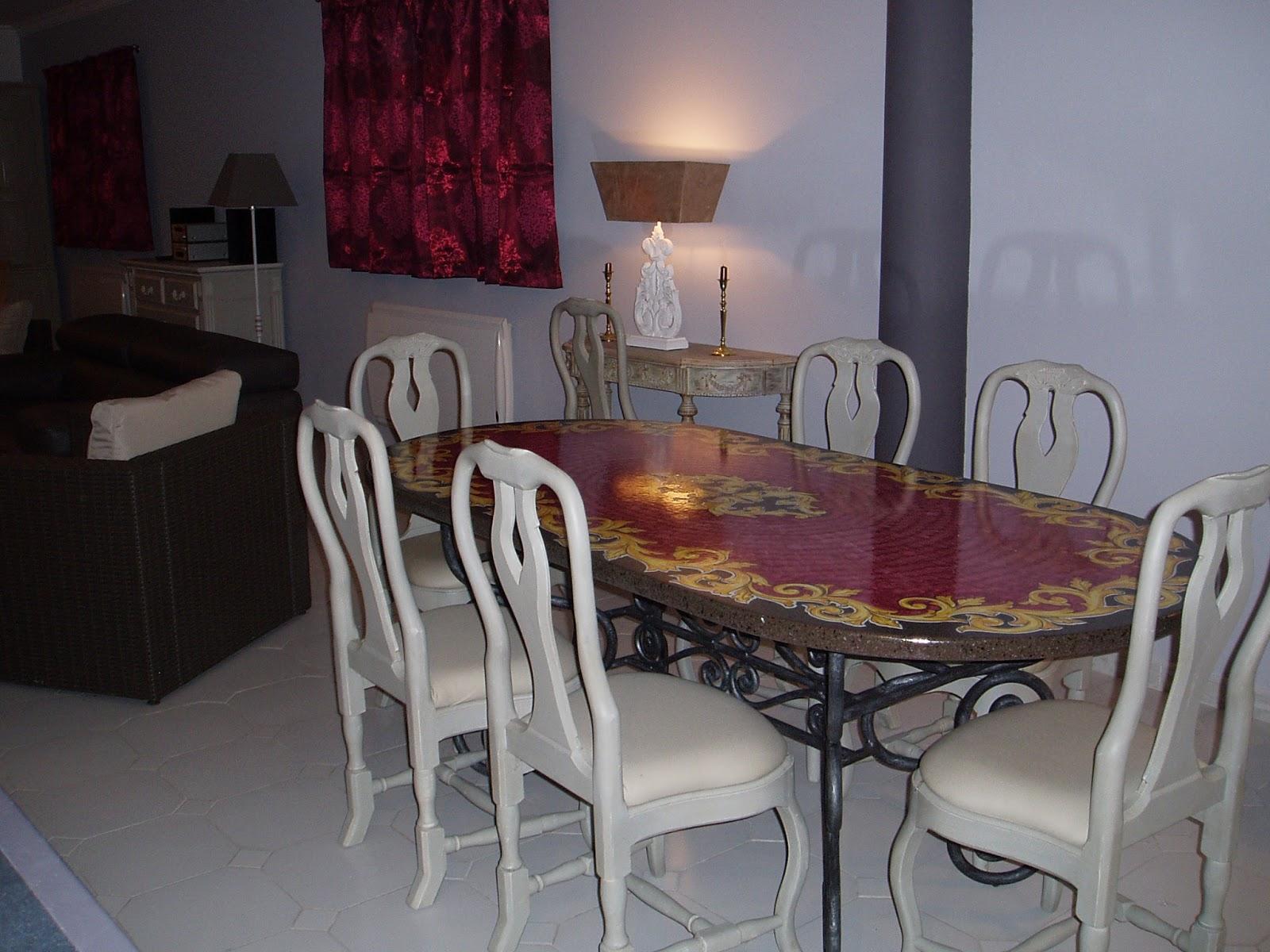 Villa des millevues louer mougins salle manger for Salle a manger translation