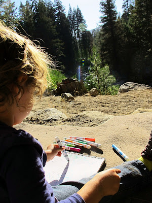 kid drawing in sequoia