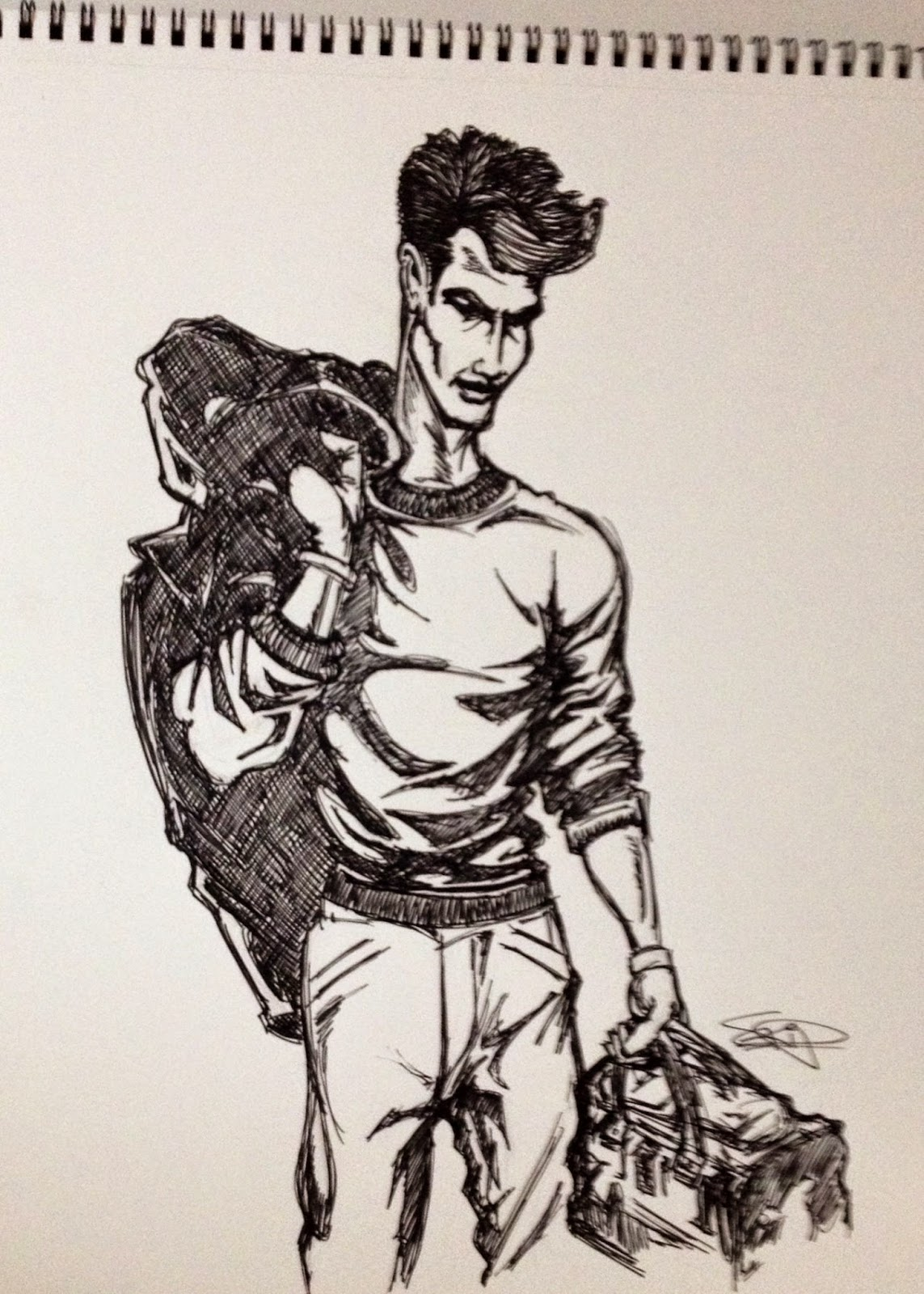 Feelfreeartz Sketch Of The Day Art By Skip