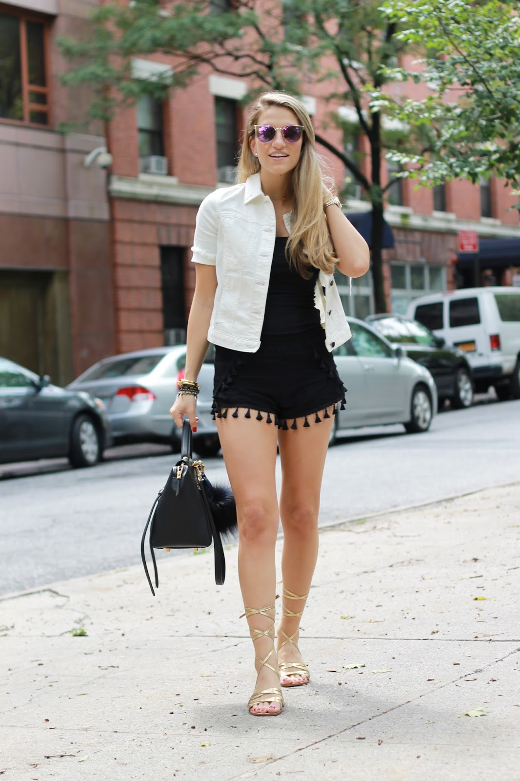 hm bloglovin, tassle shorts, nyc summer style 2015