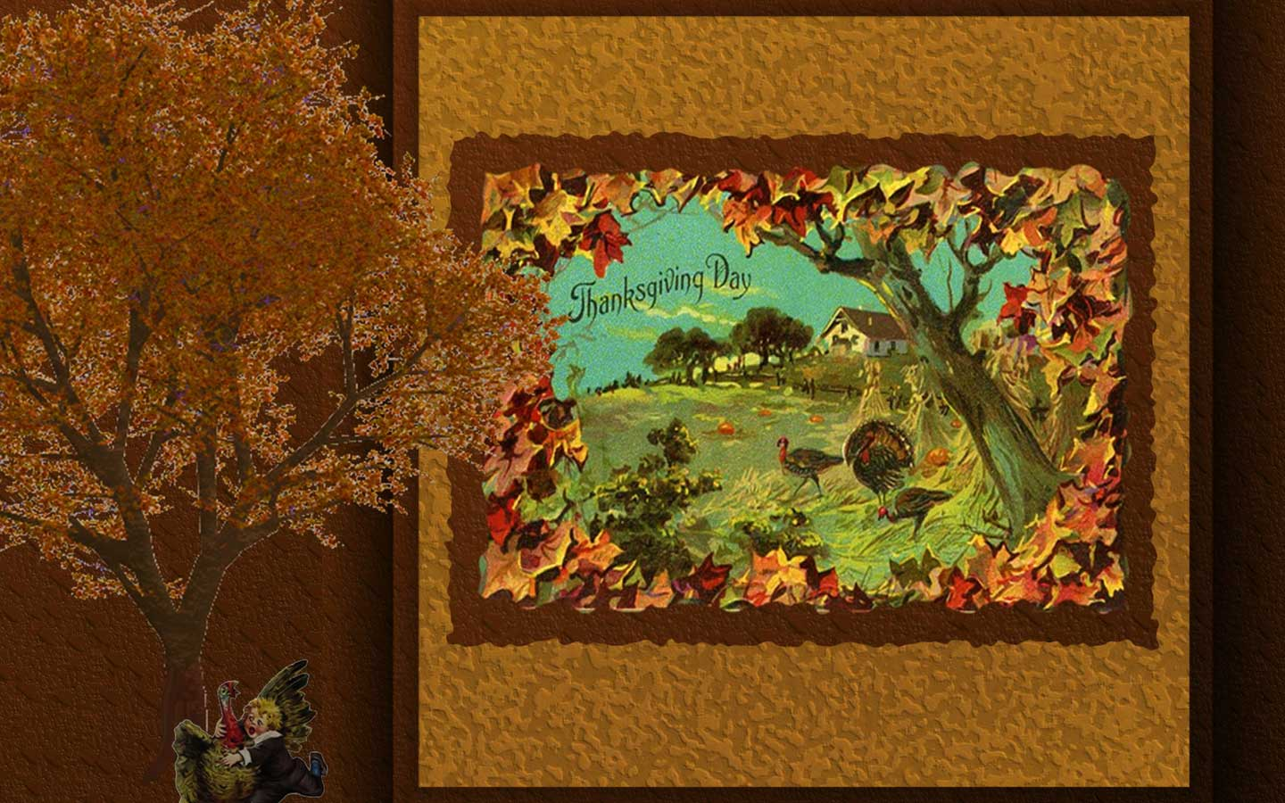 Pooh thanksgiving wallpaper