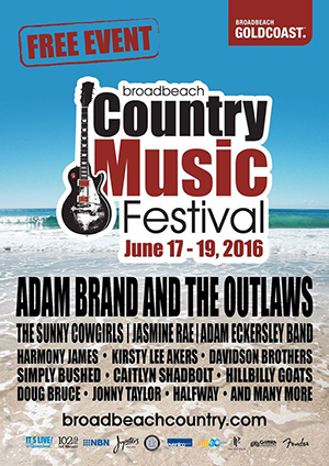 COUNTRY ON THE GOLD COAST!