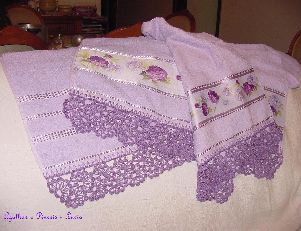 2012 Çok basit ve şık dantel havlu kenar örnekleri