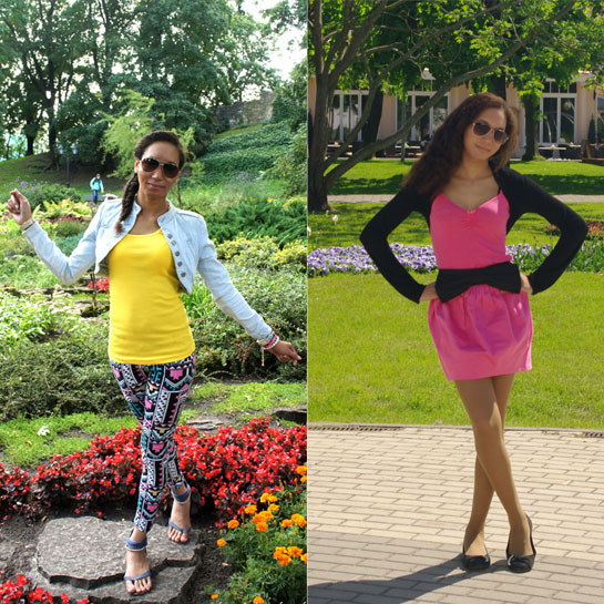 How to style aztec, pink panther, wearing pink and black, 2012 outfit