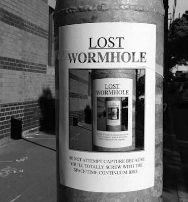 Das Wurmloch Plakat