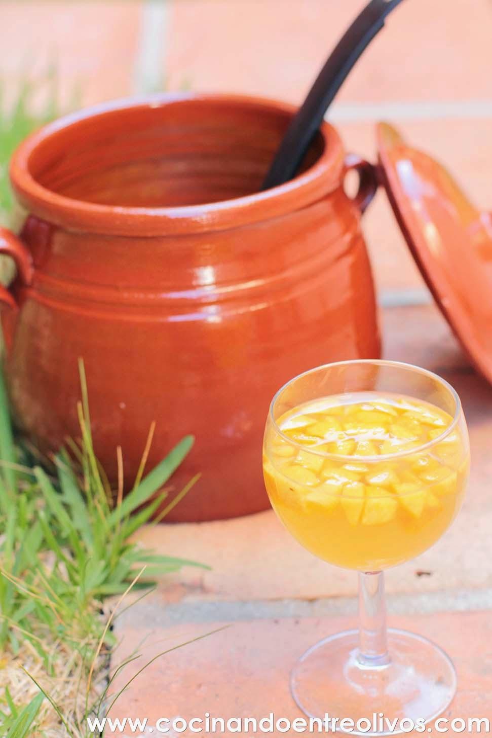 Cocinando entre olivos ponche de melocot n receta paso a for Cocinando entre olivos