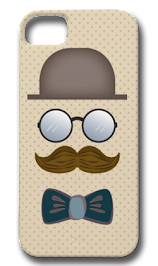 Top Hat, Moustache, Glasses and Bow Tie iPhone 5 Cover
