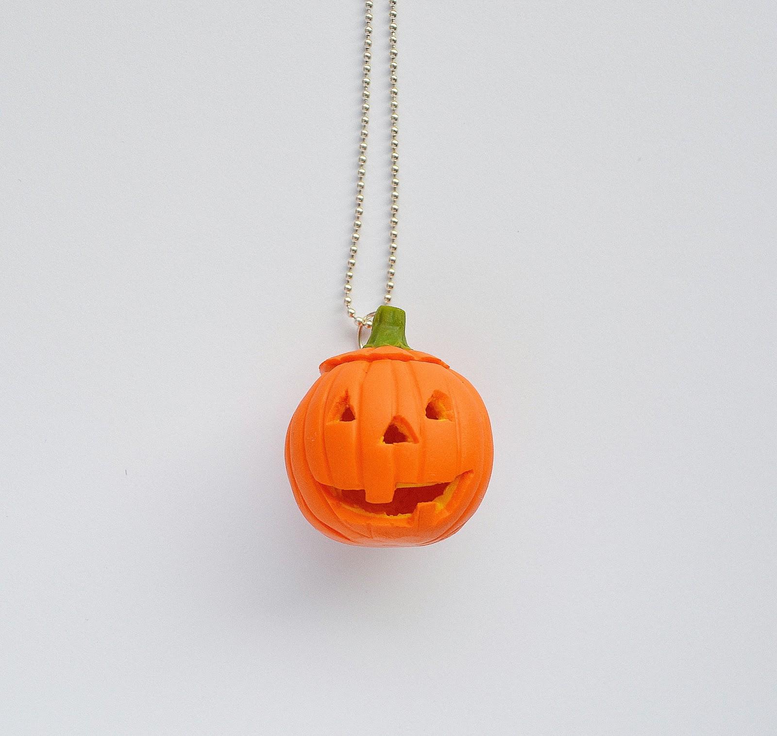 Naszyjnik Halloween'owa dynia :)