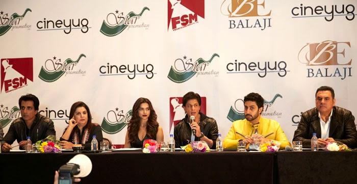 Shahrukh Khan ,Deepika Padukone and Abhishek at SLAM