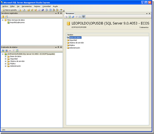 Opus Planet 003 SQL server management studio express