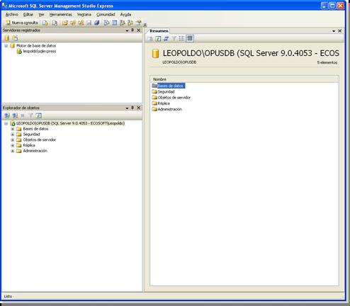 Opus Planet 003 SQL server management studio express