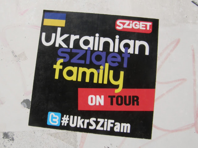 Ukrainian Sziget Family, Budapest, street art, sticker, Hungary, UkrSziFam, matrica, urban art, Sziget Fesztivál