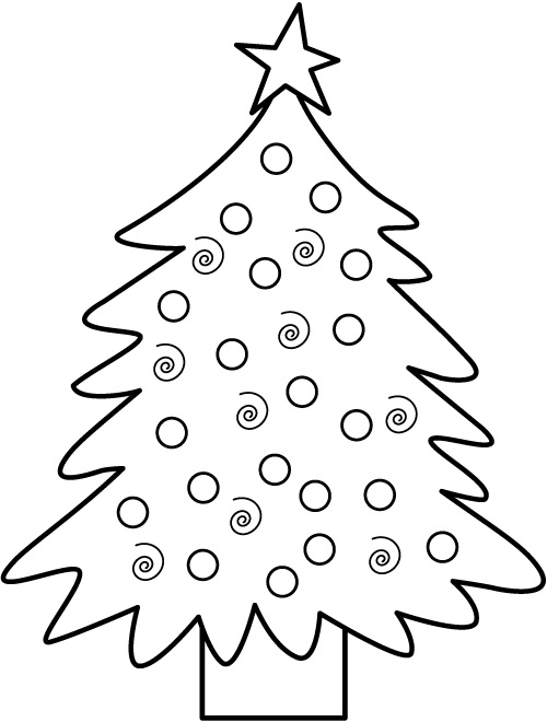 christmas tree present coloring pages - photo#21