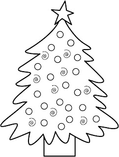 Christmas tree decoration ideas coloring page