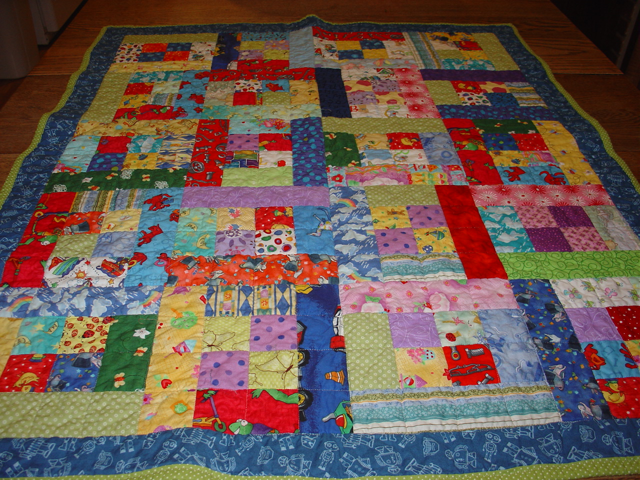 Treadlestitches Some Random Four Patch A Charity Quilt Pattern