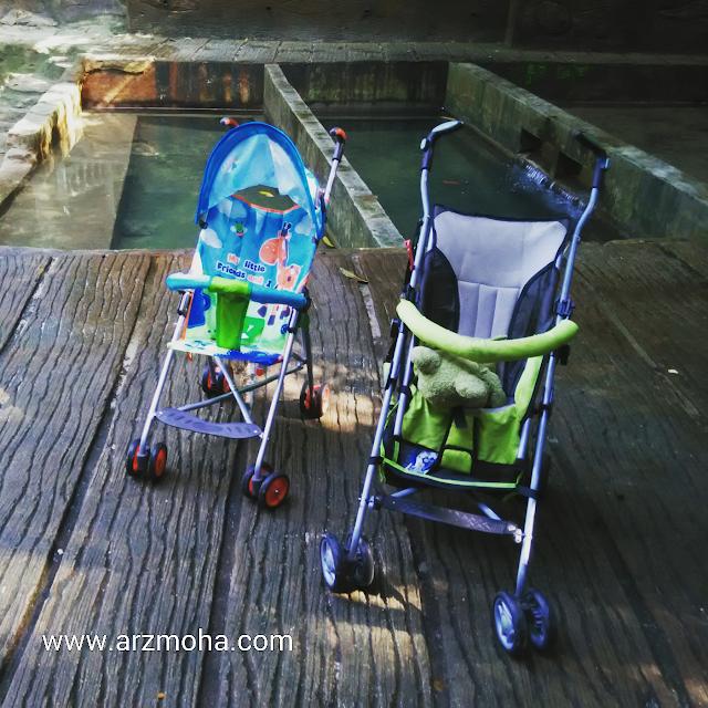 stroller kanak-kanak, bukan untuk dijual, port baik, taman rimba teluk bahang,