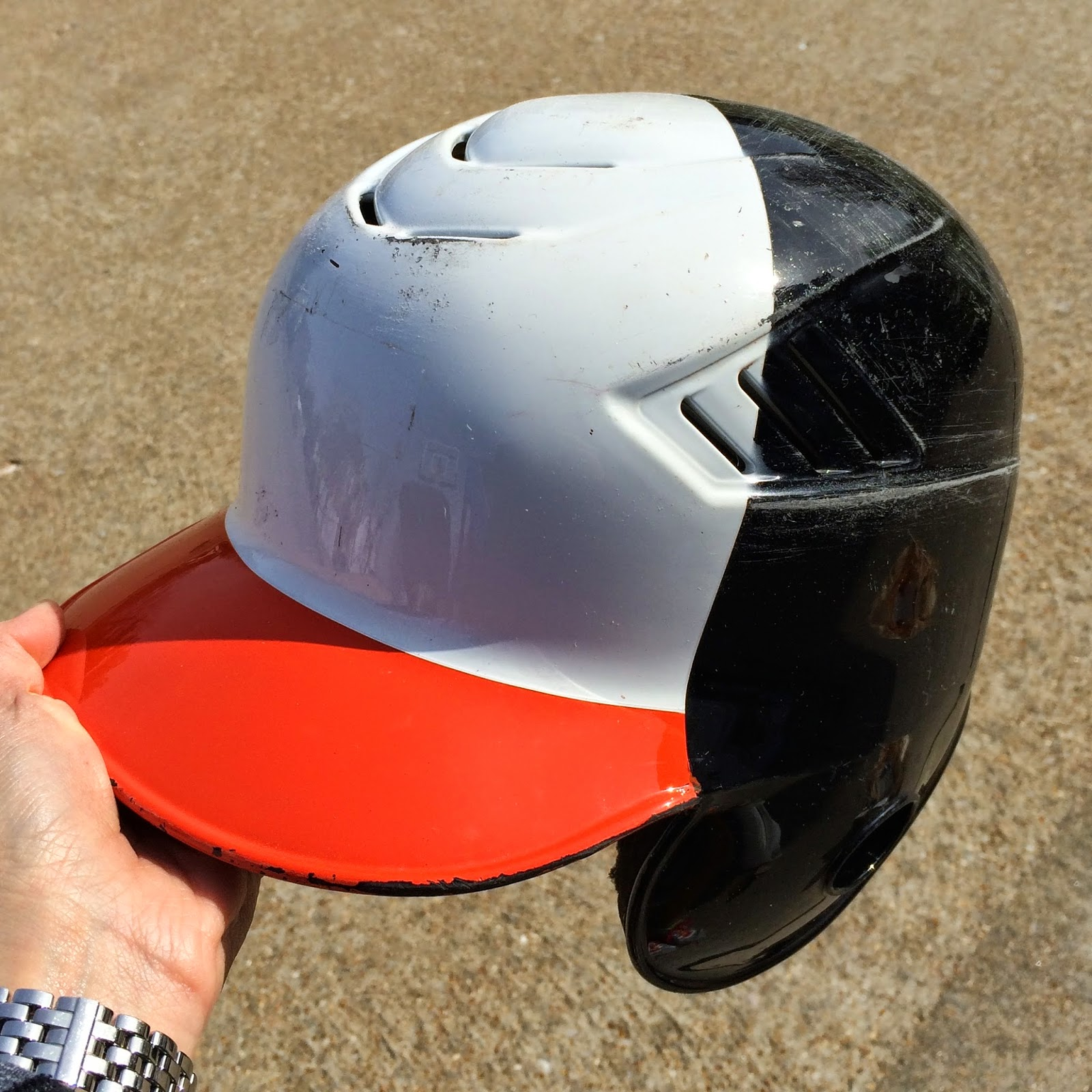 spray paint that old batting helmet charisa darling
